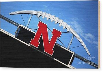 Nebraska Husker Memorial Stadium Wood Print