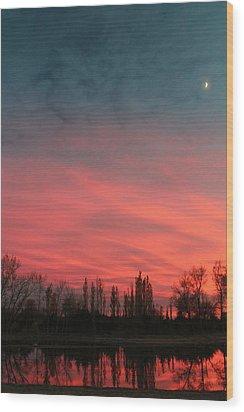 Wood Print featuring the photograph Nebraska Night by Alicia Knust