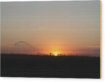 Wood Print featuring the photograph Nebraska Sunset by Alicia Knust