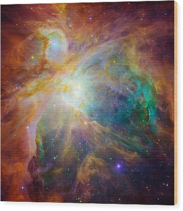 Chaos At The Heart Of Orion Wood Print by Nasa