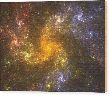 Wood Print featuring the digital art Nebula by Svetlana Nikolova
