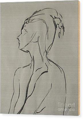Neckline Wood Print by Peter Piatt