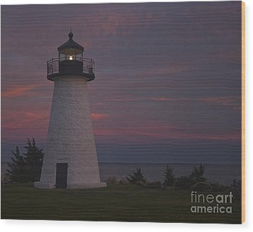 Ned's Point Lighthouse Of Mattapoisett Wood Print by Amazing Jules