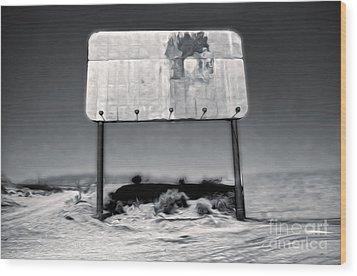 Needles Billboard Wood Print by Gregory Dyer