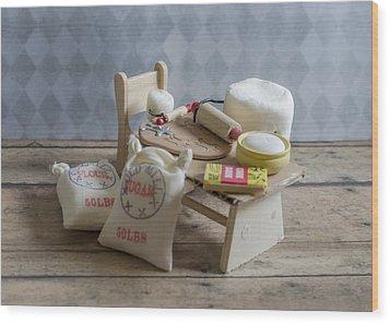 Needs More Sugar Wood Print by Heather Applegate