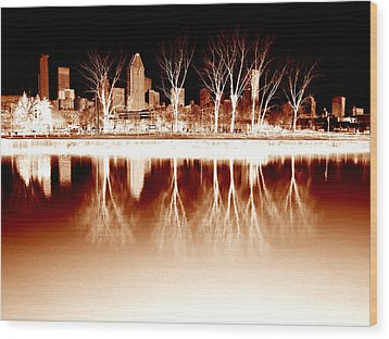 Negative Reflections  Wood Print by Robert Knight