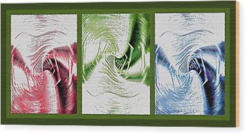 Negative Space Triptych - Inverted Wood Print by Steve Ohlsen