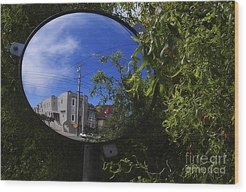 Wood Print featuring the photograph Neighborhood Reflection by Sherry Davis