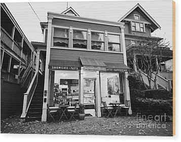 neighbourhood grocery and small deli in west end Vancouver BC Canada Wood Print by Joe Fox