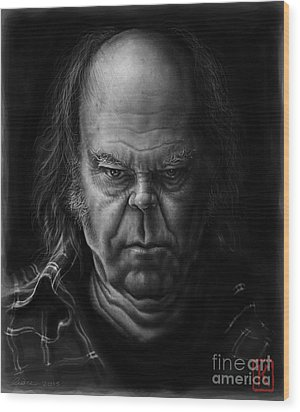 Neil Young Wood Print by Andre Koekemoer