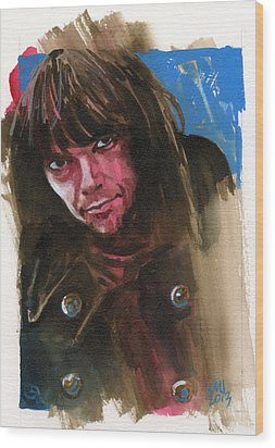 Neil Young Wood Print by Ken Meyer jr