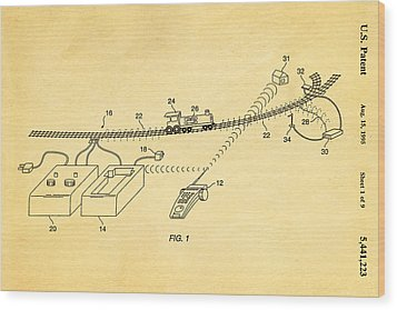 Neil Young Train Control Patent Art 1995 Wood Print by Ian Monk