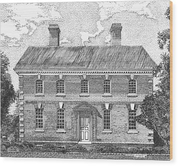 Nelson House In Yorktown Virginia II Of IIi Wood Print by Stephany Elsworth