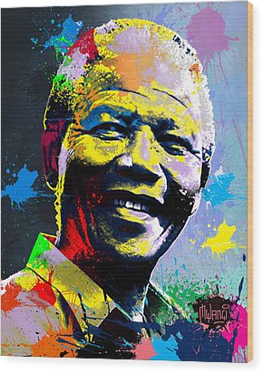 Nelson Mandela Madiba Wood Print