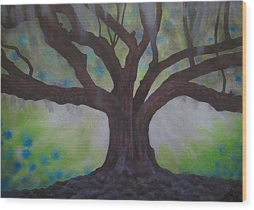 Nemeton Iv Or Southern Live Oak Wood Print