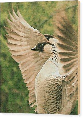 Nene Goose Wood Print