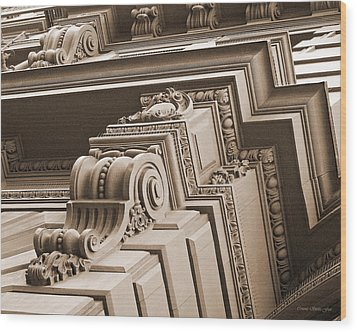 Neo-classical Architecture Wood Print