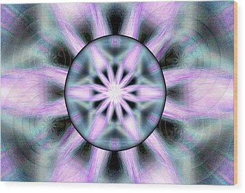 Wood Print featuring the drawing Neo Liquid Sky by Derek Gedney