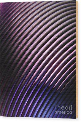 Neo Plum Wood Print by Mark Holbrook