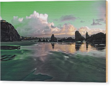 Wood Print featuring the photograph Neon Beach by Adria Trail