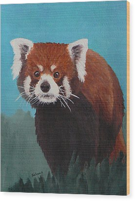 Wood Print featuring the painting Nepalese Forest Dweller by Margaret Saheed
