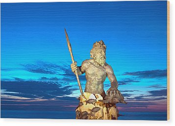 Neptune At Blue Hour Wood Print
