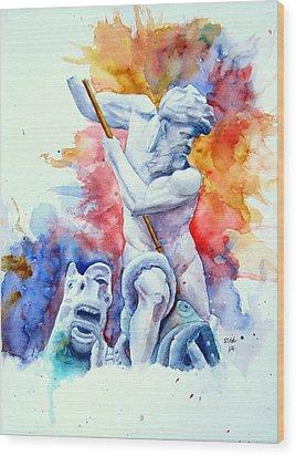 Neptune Piazza Navona  Wood Print