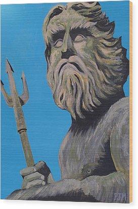 Neptune's Watch Wood Print