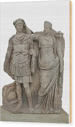 Nero And His Mother Agrippina Wood Print by Tracey Harrington-Simpson
