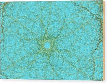 Nerves Green Blue Wood Print