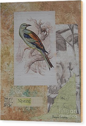 Nesting Wood Print by Tamyra Crossley