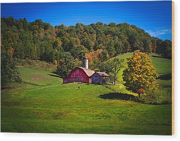 nestled in the hills of West Virginia Wood Print