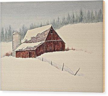Nestled In White Wood Print by Carolyn Rosenberger
