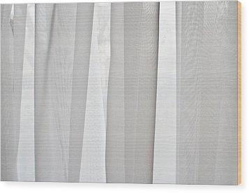 Net Curtain Wood Print by Tom Gowanlock