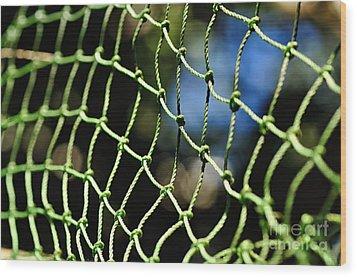 Netting - Abstract Wood Print by Kaye Menner