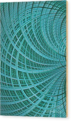 Network Wood Print by John Edwards