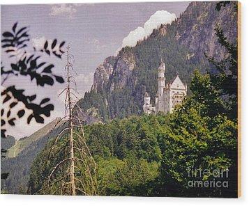 Neuschwanstein Castle Wood Print by Halifax Artist John Malone