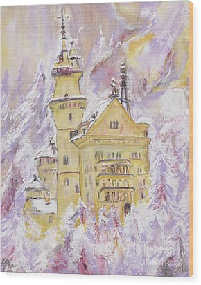 Neuschwanstein Castle  Wood Print by Helena Bebirian