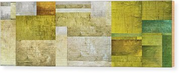 Neutral Study No. 5 Wood Print by Michelle Calkins