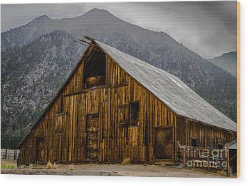 Nevada Barn Wood Print by Mitch Shindelbower