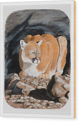 Nevada Cougar Wood Print