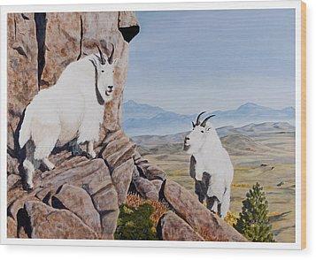 Nevada Mountain Goats Wood Print
