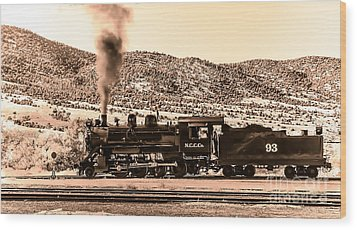 Nevada Northern Railway Wood Print by Robert Bales