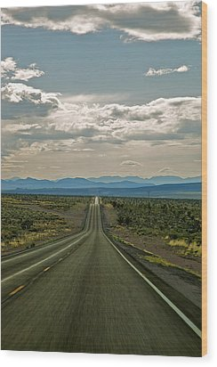 Nevada Road Wood Print