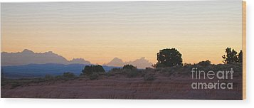 Nevada Sundown Wood Print