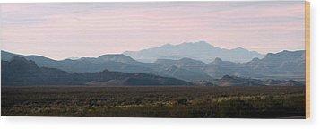 Nevada Sunset Wood Print