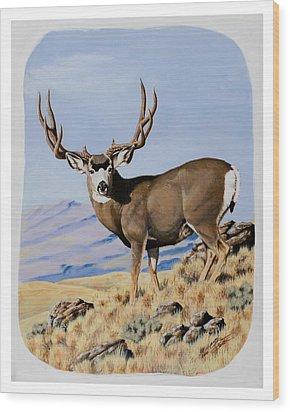 Nevada Typical Mule Deer Wood Print