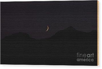 Never Summer Range Moonset Wood Print by Jon Burch Photography