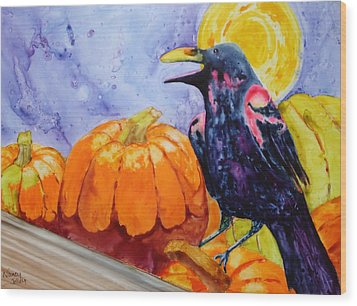 Nevermore Wood Print by Nancy Jolley
