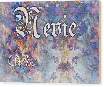 Nevie - Wise Wood Print by Christopher Gaston